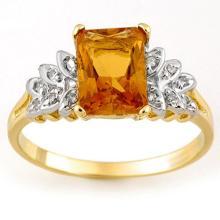 10K Yellow Gold Jewelry 2.12 ctw Citrine & Diamond Ring - SKU#U11Z7- 1772
