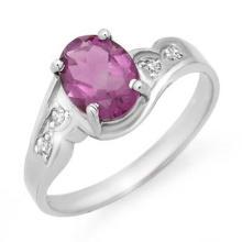 10K White Gold Jewelry 1.26 ctw Amethyst & Diamond Ring - SKU#U8Z9- 90143