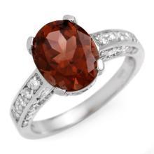 14K White Gold Jewelry 3.6 ctw Pink Tourmaline & Diamond Ring - SKU#U46R3- 1240