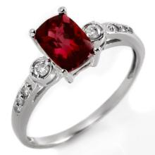 10K White Gold Jewelry 1.45 ctw Pink Tourmaline & Diamond Ring - SKU#U15W9- 1787