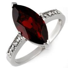10K White Gold Jewelry 3.1 ctw Garnet & Diamond Ring - SKU#U12E1- 1581