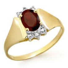 10K Yellow Gold Jewelry 1.03 ctw Garnet & Diamond Ring - SKU#U8O3- 90401