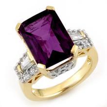 10K Yellow Gold Jewelry 9.55 ctw Amethyst & Diamond Ring - SKU#U41H6- 2007
