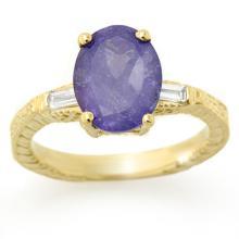Genuine 3.7ctw Tanzanite & Diamond Jewelry Ring 10K Yellow Gold - SKU#U77Y8- 1957