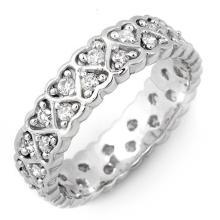 10K White Gold Jewelry 1.0 ctw Diamond Eternity Anniversary Ring - SKU#U32X9- 1654