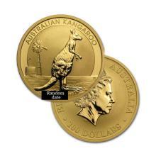 Brilliant Uncirculated 1oz Australian Gold Coin Kangaroo - Random date - REF#H8925