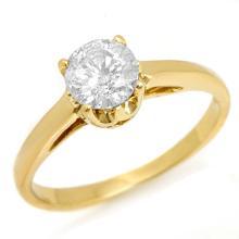 Natural 0.80 ctw Diamond Solitaire Jewelry Ring 14K Yellow Gold - SKU#U12N98- 1645