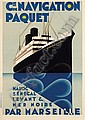 Poster by Max Ponty - Cie de Navigation Paquet, Max Ponty, Click for value