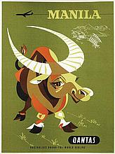 Poster by Harry Rogers - Quantas Manila