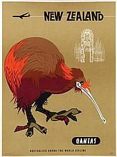 Poster by Harry Rogers - Quantas New Zealand