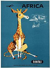 Poster by Harry Rogers - Quantas Africa
