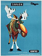 Poster by Harry Rogers - Quantas Canada