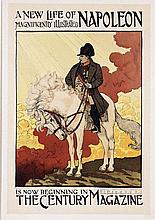 Poster by Eugène Grasset - The Century Magazine A new life of Napoleon