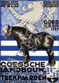 Poster by Wim Abeleven - Goesche Landbouw en nationale Trekpaarden tentoostelling