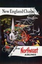 Poster by C. Robert Perrin - New England Charm via Northeast Airlines
