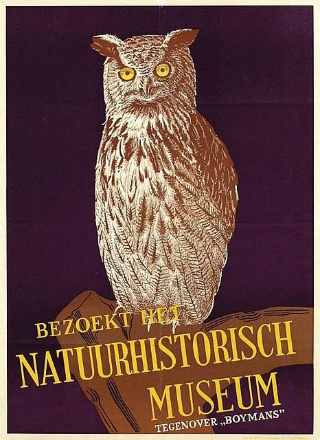 Poster by  Anonymous - Bezoekt het Natuurhistorisch Museum