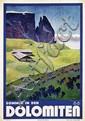 Poster by Franz Lenhart - Sommer in den Dolomiten