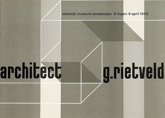 Poster by Willem H. Crouwel - architect g. rietveld