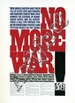 Poster by Herb Lubalin - No More War!