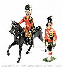 PAIR inc Britains - from Set 437 - Officers