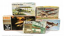 GRP inc Frog 1/72nd Aircraft Range, 1960's