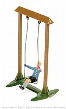 Britains Model 619 - Boy on a Swing, (post war