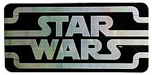 Star Wars holographic vinyl Sign, double sided