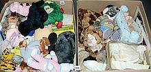 QTY inc Large quantity of soft toys and dolls