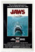 JAWS (1975) Movie Poster. US One Sheet, SS