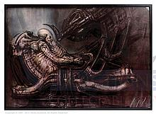 ALIEN PILOT IN COCKPIT (1978) by HR Giger. One