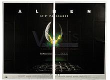 ALIEN (1979) Film Poster. French Two Panel