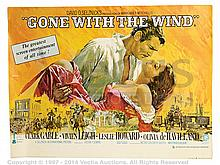 GONE WITH THE WIND (1939) Film Poster. UK Quad