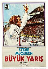 LE MANS (1971) Film Poster. Turkish One Sheet