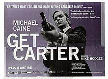 GET CARTER (1971) Film Poster. UK Quad (R-1999)
