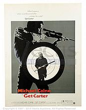 GET CARTER (1971) Film Poster. US 30x40, SS