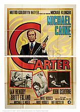 GET CARTER (1971) Film Poster. Italian Four