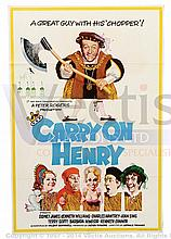 CARRY ON HENRY (1971) Film Poster. UK One Sheet