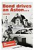 THUNDERBALL (1965) Aston Martin Film Poster