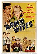 ARMY WIVES (1944) Film Poster. Australian One