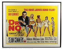 DR. NO (1962) Film Poster. UK Quad, SS, Linen