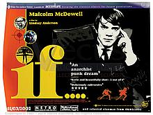 IF (1968) Signed Film Poster. UK Quad (R-2002)
