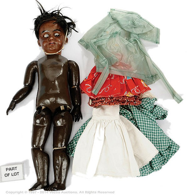 Simon and Halbig mulatto bisque doll, German