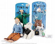 QTY inc Tintin figures and ephemera: Tyco Tintin