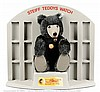 Steiff Grey Watch Teddy shop display, 1992