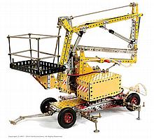 Meccano Model of a Cherry Picker Platform Hoist