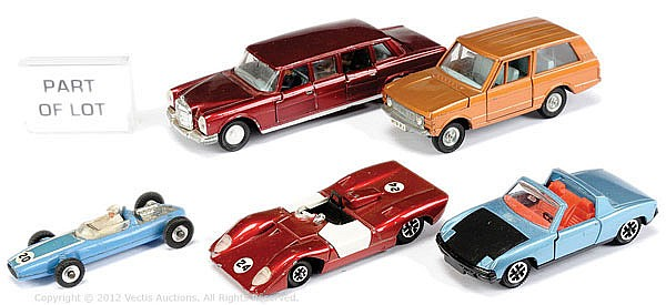 GRP Dinky unboxed inc No.128 Mercedes Benz 600