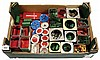 QTY inc Meccano assorted primarily red/green