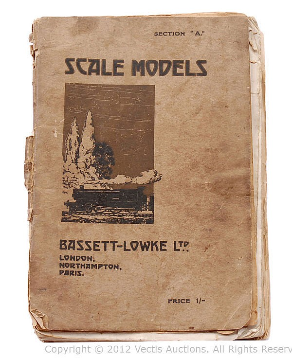 Bassett-Lowke Catalogue dated August 1918