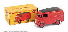 Dinky No.260 Royal Mail Van - red body, ridged