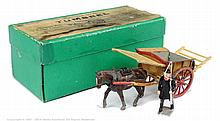 Britains - Set 4F - Tumbrel Cart, (Pre War